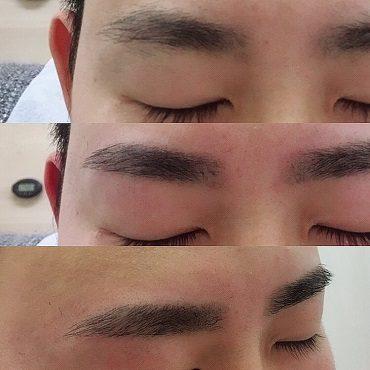 メンズ眉毛サロンle-unルアン ビフォーアフター