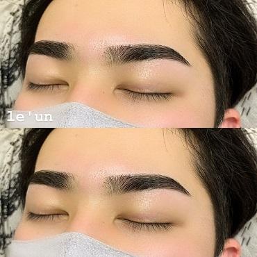 メンズ眉毛 ビフォーアフター